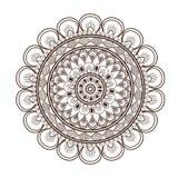 round petali like decorative line mandala icon Royalty Free Stock Photos