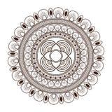 round petali like decorative line mandala icon Stock Image