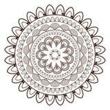 round petali like decorative line mandala icon Stock Photography