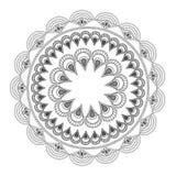round petali like decorative line mandala icon Stock Photo