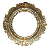 ROUND PICTURE FRAME. Round empty picture frame. Old style picture frame Royalty Free Stock Images