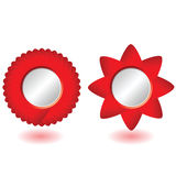 Round picture frame vector illustration. In red color Royalty Free Stock Photo