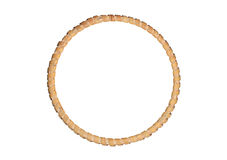 Round Picture Wooden Frame Royalty Free Stock Photography