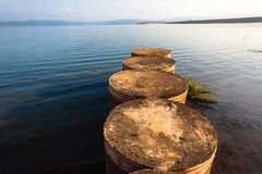 Dam Pier Waters Horizon Royalty Free Stock Photo
