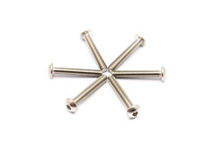 Round Pile of Ball-Hex-Head Stainless Steel Bolts Royalty Free Stock Photo