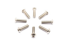 Round Pile of Ball-Hex -Head Stainless Steel Bolts Royalty Free Stock Image