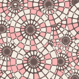 Round pink mosaic pattern worn out background. Royalty Free Stock Photo