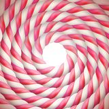 Round pink sweet candy template. EPS 10 stock illustration