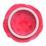 Round pink watercolor banner Royalty Free Stock Images