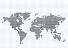 Round Pixel World Map. A map of the world made from small round pixels. Fully scalable vector illustration Royalty Free Stock Image