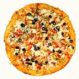 Round Pizza Stock Photography