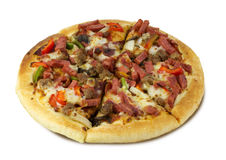 Round pizza Stock Images