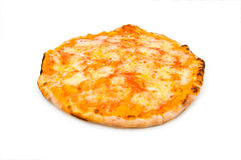Round pizza isolated Stock Images
