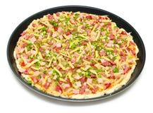 Round pizza isolated Stock Photo