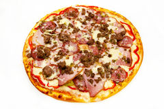 Round pizza with meat 9 Stock Photo