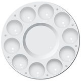 Round plastic palette Royalty Free Stock Photo