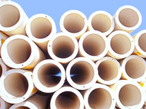 Round plastic pipes Royalty Free Stock Photography