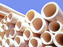 Round plastic pipes Royalty Free Stock Image