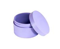 Round plastikowy pudełko Zdjęcia Stock