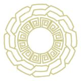 Round plate in greek style. Round plate with greek round ornament, mandala Royalty Free Stock Photography