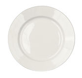 Round plate isolated top view Royalty Free Stock Image