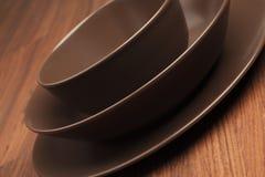 Round plates Stock Image