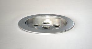 Round Plug Hole Closeup Royalty Free Stock Photos