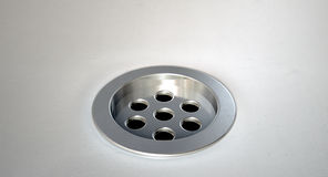 Round Plug Hole Closeup Stock Image