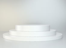 Round podium. Pedestal. Scene. Stock Photos