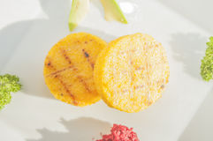 Round polenta Stock Images
