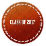Round pomarańcze wzoru odznaka z klasą 2017 wiadomość ilustracji