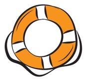 Round pomarańczowy lifebuoy Obraz Stock