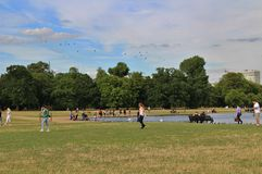 The Round Pond, Kensington Gardens Royalty Free Stock Photos
