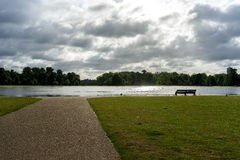 The Round Pond at Kensington Palace stock photos