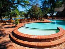 Round pool stock photo