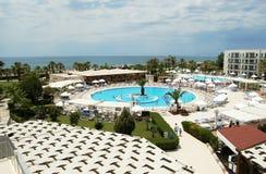 Round pool near the beach. Royalty Free Stock Photo