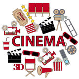 Round poster cinema Stock Photo