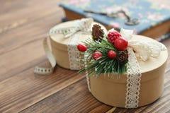 Round prezentów pudełka Zdjęcie Stock