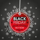 Round Price Sticker Black Friday Dark Background Royalty Free Stock Photos
