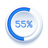 Round Progress Bar Royalty Free Stock Photos