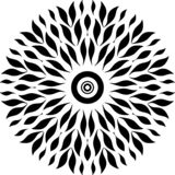 Round projekt tylko opuszcza, czarny i biały, round projekta złącza liście liście jak ryba jak sperma w kobiecie ilustracji