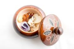 Round pudełko z jewellery Obrazy Royalty Free