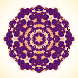 Round purple on a light background Stock Images