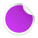 Round purple sticker. Vector illustration Royalty Free Stock Image