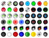 Round Push Button Vectors Royalty Free Stock Photos