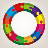 vector round puzzle Royalty Free Stock Photos