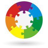 round puzzle with options Royalty Free Stock Photography
