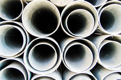 Round PVC pipe Royalty Free Stock Images