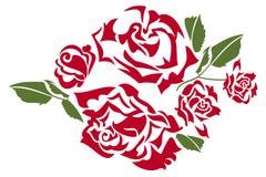 Round róży rama Fotografia Royalty Free