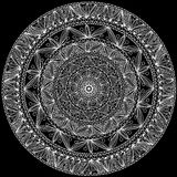 Round ręcznie robiony ornamentacyjna koronka Zdjęcia Stock